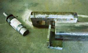 Крепление крюка фаркопа для небольших нагрузок