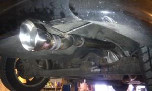 Тюнинг Nissan Almera двигатель 19 глушитель