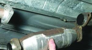 Демонтаж катализатора на ваз 2121