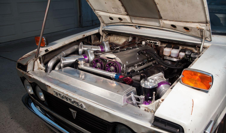 1972-Toyota-Hilux-Pickup, двигатель 2 радиатор